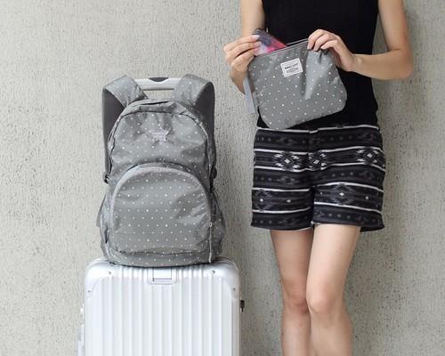 2564747c3358 BAGCOM・Light-Fold Stars Water Stop Backpack-Grey