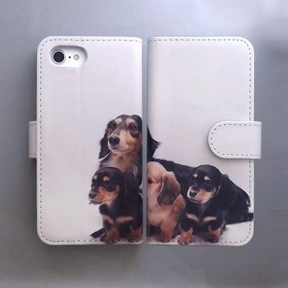 7fa5aac37c 全機種対応 手帳型スマホケース カバー 犬 ダックスフント 動物 かわいい 245