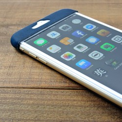 a57bc5e8a8 iPhone6plus&s plus専用 革スリムケース(ダークブルー) iPhoneケース ...