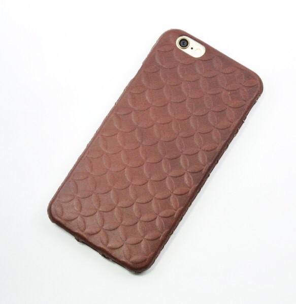 0bf8a85cad iPhone6用 革ケース(七宝柄、ダークブラウン) iPhoneケース・カバー ...