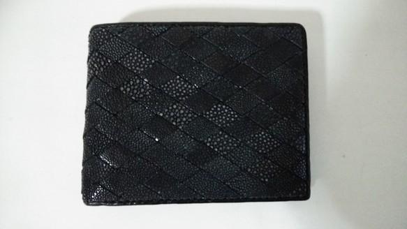 75c7c1c7f00e スティングレイ(ガルーシャ) 二つ折り財布 イントレチャート 財布・二つ折り財布 KY-leather