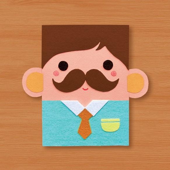 手形状のカード:〜お父さん私はあなたに_A(父カード、父の日、誕生日カード、あなたに感謝のカードを)愛してありがとう カード・レター Dino 小恐龍