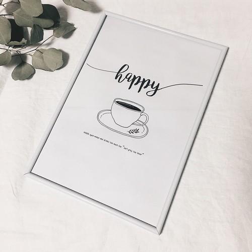 RoomClip商品情報 - 紅茶好きの方へ happyポスター【A4サイズ】