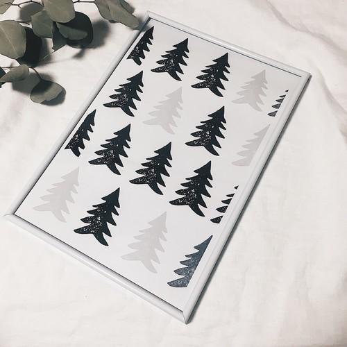 モミの木 北欧風ポスター