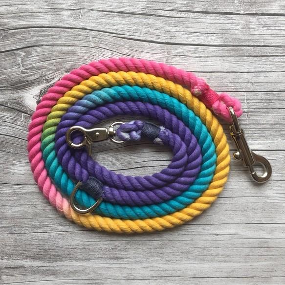 犬用リード ロープ 犬 4色オーダー ropedogreash 小型犬、中型犬 ...
