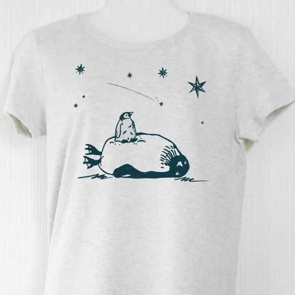 2b4d325286060e 星見るペンギンTシャツ オートミール Tシャツ・カットソー choco-rail ...