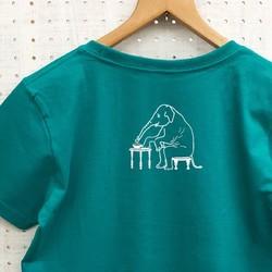 1708de42dbe413 サーカスぞうさんTシャツ グリーン Tシャツ・カットソー choco-rail 通販 ...