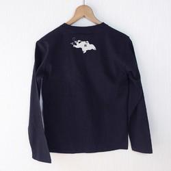 fe496832fc1b6d サーカス マレー熊 長袖Tシャツ(ユニセックス/紺) Tシャツ・カットソー ...