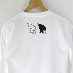 997219bac0f243 考える熊 長袖Tシャツ(白/ユニセックス) Tシャツ・カットソー choco-rail 通販|Creema(クリーマ) ハンドメイド・手作り・ クラフト作品の販売サイト