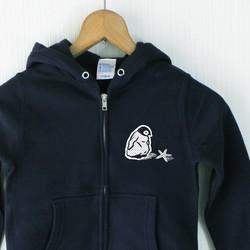 c6dcc276bd4822 キッズ ジップパーカー 星見るペンギン ネイビー 子供服 choco-rail 通販|Creema(クリーマ) ハンドメイド・手作り・クラフト作品の 販売サイト