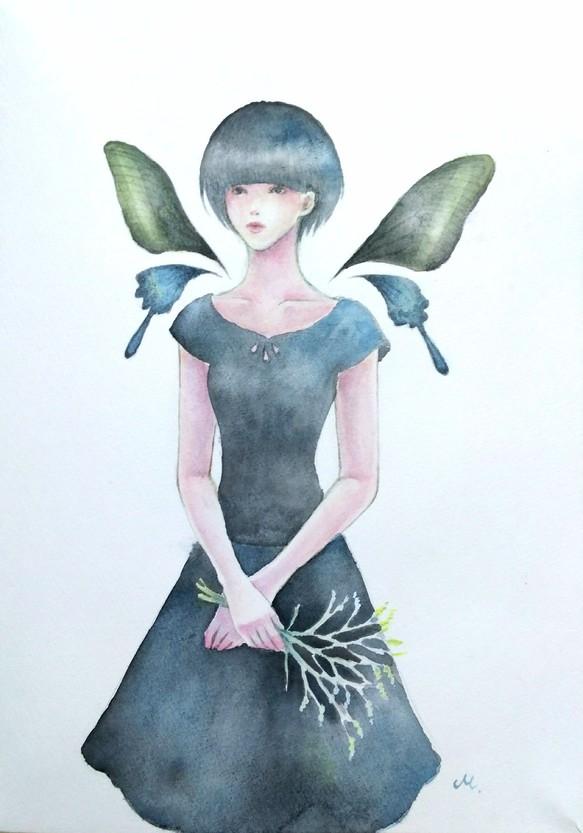 スターチスポストカード3枚セット イラスト ドレス工房マリエ 通販