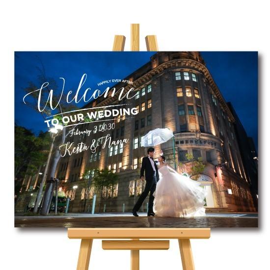 42d361ce2a586 お手持ちのお写真をウェルカムボードに加工 結婚式 名入れ 二次会 ウェルカムアイテム bord0025