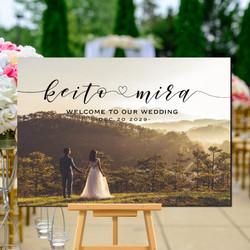ff8fdc24f7dca お手持ちのお写真をウェルカムボードに加工 名入れ 結婚式 二次会 ウェルカムアイテム bord0138