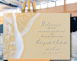 37ae9a2521994 ウェルカムボード 名入れ 結婚式 二次会 ポスター印刷 パネル加工OK bord0202