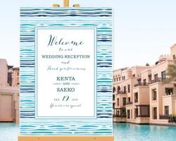 abd6650ccbb7d ウェルカムボード 海 ビーチ 名入れ 結婚式 二次会 ポスター印刷 パネル加工OK bord0206
