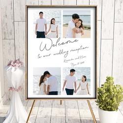 07327673b1e53 お手持ちのお写真をウェルカムボードに加工 結婚式 名入れ ウェルカムアイテム bord0438 ウェルカムボード homefabpaper  通販 Creema(クリーマ) ハンドメイド・ ...