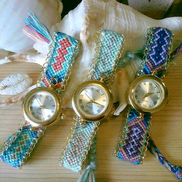 【新色追加】side chain missanga watch
