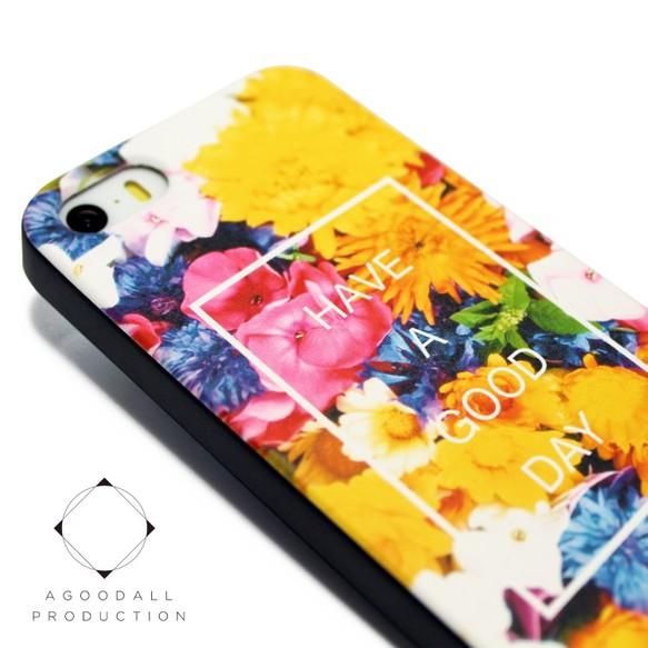 3961f5e248 iphone5/iphone5s/iphoneSEケース☆軽量レザーケースカバー(花柄×ブラック)フラワーアート