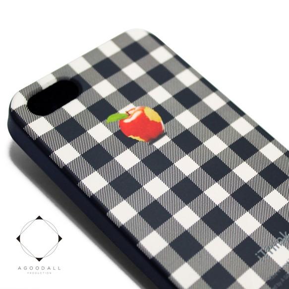 8c472f46ee iphone5/iphone5s/iphoneSE用レザーケースカバー (シェパードチェック)赤 ...