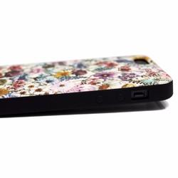 6d5911a651 iphone5/iphone5s/iphoneSEケース☆軽量レザーケースカバー(花柄×ブラック)ワイルドフラワー