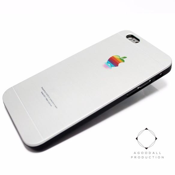 ad3b209518 iphone6/6sケース(4.7寸用)☆軽量アルミケースカバー(シルバー×ブラック)silver