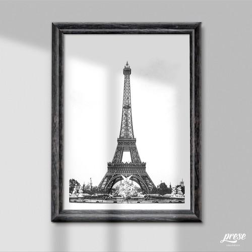 エッフェル塔 装飾が美しい1889年パリ万博 写真・グラフィック graphic ...