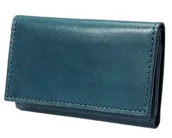 6bdf744f55b2 栃木レザー 名刺入れ ヌメ革 本革 日本製 メンズ ネイビー 紺 ブルー ビジネス カード