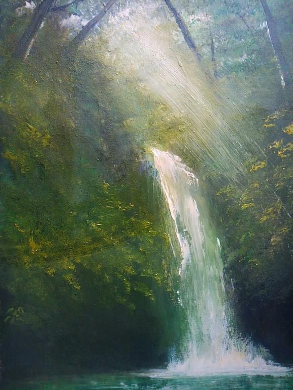 木洩れ日の滝 絵画 紫李鳥 通販...