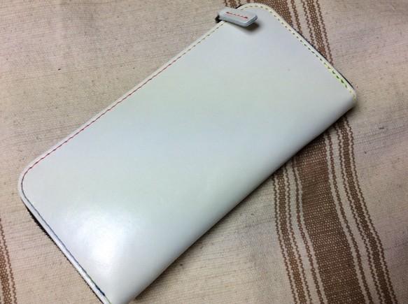 purchase cheap 8d903 da48b オフホワイトのお財布はいかがでしょうか?牛革良質RF長財布