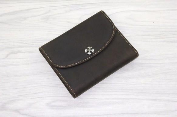 49e4c44a51f9 ハンドメイド ヴィンテージ 二つ折財布 小銭入れあり 本革 牛革 レザー 皮 レディース メンズ おしゃれ BV02