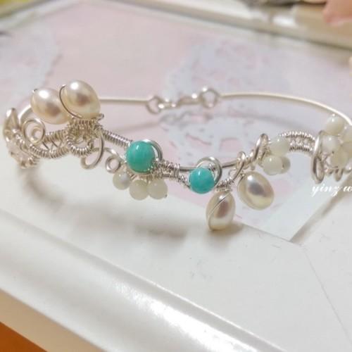 ユースラブミフラニ語天然石ジュエリー真珠のブレスレット ...
