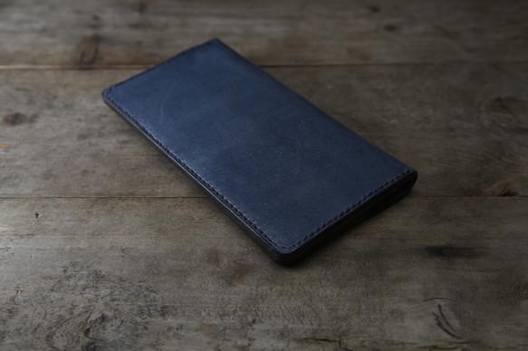 separation shoes 582dc c1f72 [受注生産] 藍染め革 長財布
