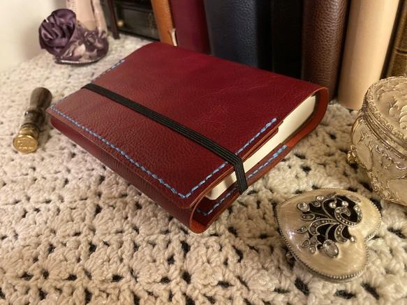 【牛革ヌメシュリンク】ほぼ日5年手帳カバーA6 文庫サイズ 革と糸の色違い可 文房具・ステーショナリー marimo