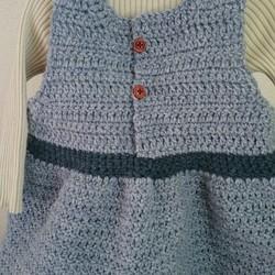 88debad0f0f4d 冬でも暖か☆清楚な手編みニットワンピース 子供服 みどママ 通販 ...