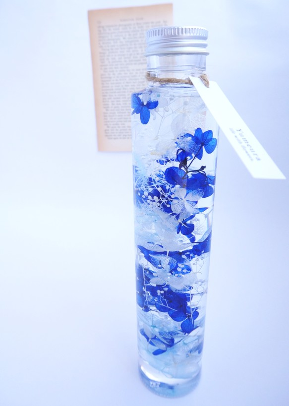 ハーバリウム 深海 Blue フラワーリース Yumeura 通販creema