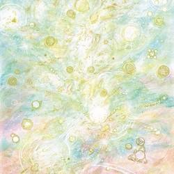 スピリチュアルヒーリングアート『光から生まれる命』 額入りA4ジクレーアート(絵画)で癒しの空間を! | HIDEKIのその他アート