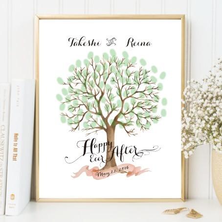 ウェルカムツリー wedding tree b4サイズ50 70名分ペーパーのみ 婚禮