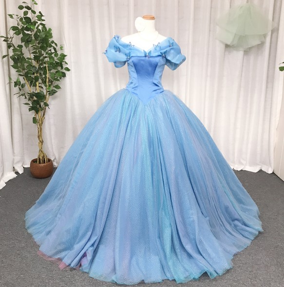 31e32849bb20b シンデレラのウェディングドレス、キラキラ、ハンドメイドウェディング ドレス loveme