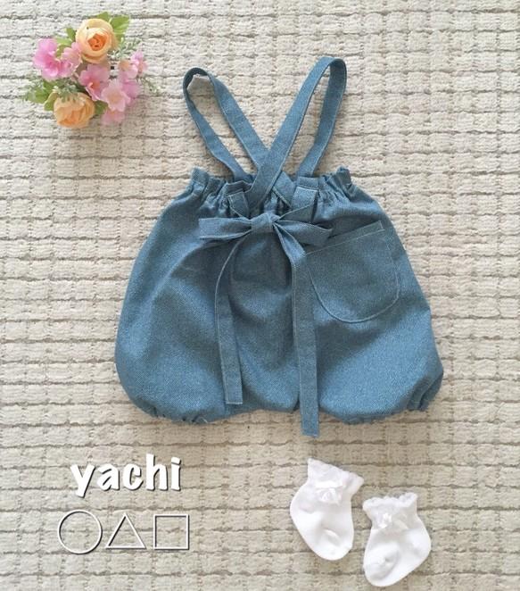 4a47d03d6291b 再販❤ 日本製ソフトdenim**ベビーサロペット** ベビー服 yachi ...