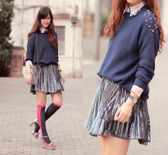 c5938c6a0a0243 ソックス - 靴下の女の子 - シンプルなソックス - チューブピンクのストッキングで