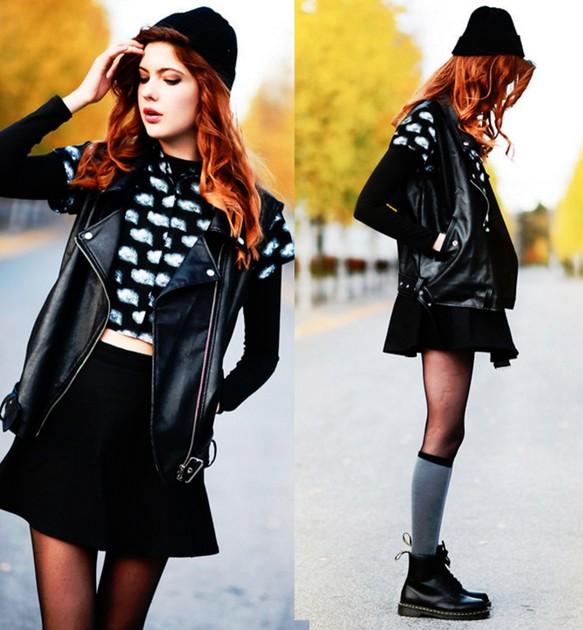 213ae3ab2589df ソックス - 靴下の女の子 - シンプルなソックス - チューブ黒のストッキングで