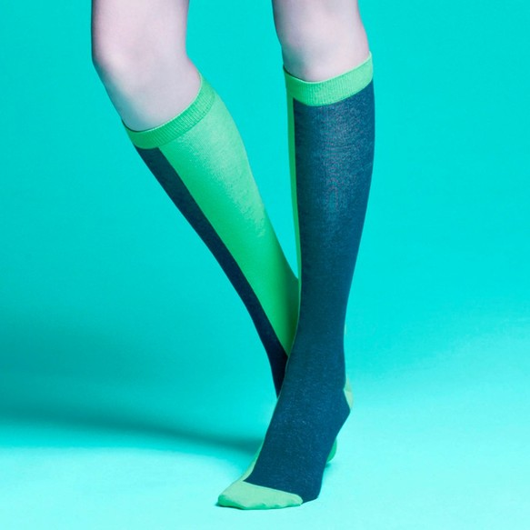 eedf6d82f57536 ソックス - 靴下の女の子 - シンプルなソックス - チューブ緑のストッキングで