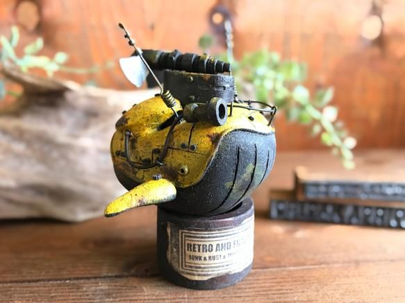 豆クジラっちの飛行船(Yellow) 立体・オブジェ jucon