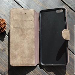 a85b507ec 【受注製作】シックな美 なめらか牛革iphone6/6s/plusケース 丈夫な作り 灰色 KK37