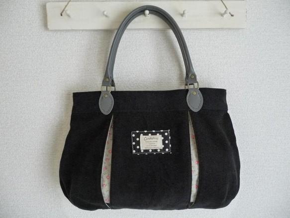 066b5af0b6c0 ボックスプリーツバッグ 黒 ハンドバッグ まてりある 通販|Creema ...