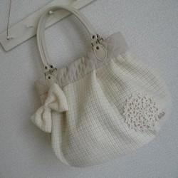 d17023cbaf68 ホワイトバルーンバッグ(オーダー品) ハンドバッグ まてりある 通販 ...