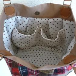 f4ef83ddadb0 バルーンバッグ 赤チェック ハンドバッグ まてりある 通販|Creema(クリーマ) ハンドメイド・手作り・クラフト作品の販売サイト