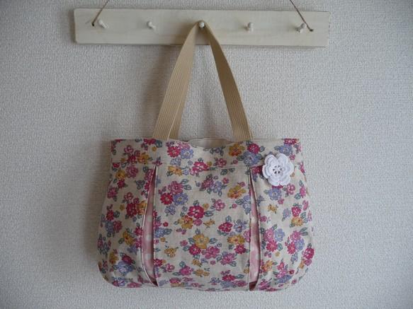 4730ab3146b6 ボックスプリーツバッグ 花柄 ハンドバッグ まてりある 通販|Creema ...