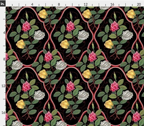 b7189531f8c65 生地 輸入生地 フレンチスタイルお花柄 レアデザイン ハンドメイド素材 生地 richrichy