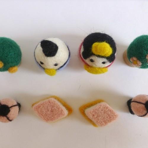 受注制作 雛人形羊毛フェルトの桃と橘とひし餅 出来次第発送致します ...